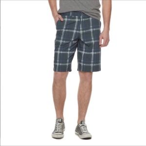 Urban Pipeline Blue Gray Plaid Flex Shorts NWT 30